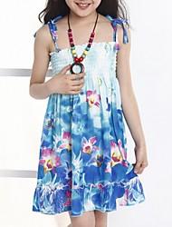 Vestido Chica deAlgodón-Verano-Azul / Verde / Morado