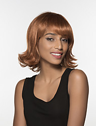 Charming Evaginate Medium Length Wavy Woman's  Capless Remy Hand Tied Top wig
