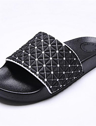 Men's Shoes Casual Leatherette Slippers Black / White