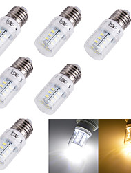 YouOKLight® 6PCS E14/E27 3W  24*SMD5730  Warm White Cold White CRI>80 LED Corn Bulbs Lamp(AC110V-120V/220V-240V)