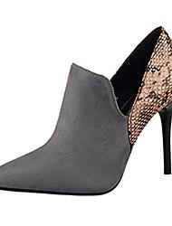 Women's Heels Summer Heels Fleece Casual Stiletto Heel Others Black / Pink / Red / Almond / Khaki Others