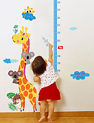 Wall Stickers Wall Decals Style Lovely Long Deer Measuring Your Height PVC Wall Stickers