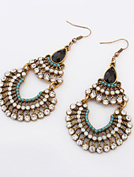 The Trend Of Retro National Wind Bohemian Rhinestones  Multilayer Drop Earrings