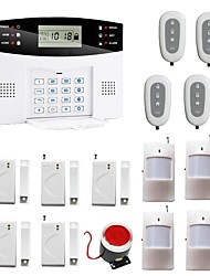 En Spanish French Voice Wireless LCD GSM Alarm Systems Security Home Anti Theft Alarma Alarme With 5 Door 4 PIR Detector