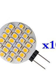 0.9W 1210 24 cms chaud circulaire blanc lampe LED g4 (dc 12 v, 10pcs)