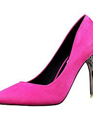 Femme Chaussures à Talons Polyuréthane Eté Décontracté Talon Aiguille Rouge Vert Rose Doré Kaki 10 à 12 cm
