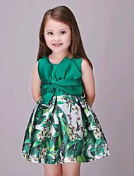 Vestido Chica de-Verano-Algodón-Verde
