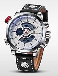 Мужской Наручные часы Японский кварц LCD / Календарь / Секундомер / Защита от влаги / С двумя часовыми поясами / тревога Кожа Группа
