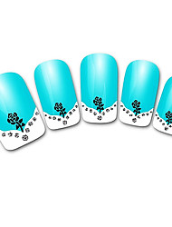 Abstract Green XF821 French 3D Nail Stickers