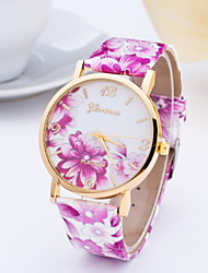Women's Fashionable Printed in GenevaWatch Leather Band Cool Watches Unique Watches