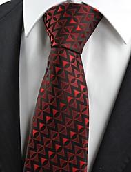 Cravatta-MotivoDIPoliestere-Nero / Rosso