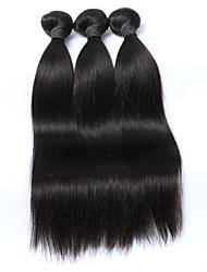 Brazilian virgin hair straight 3pcs Lot WELL Hair products 100% unprocessed virgin human hair