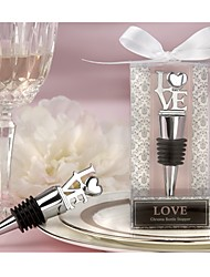 LOVE Chrome Bottle Stopper Wedding Favors, Bridesmaids Party Souvenirs