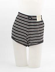 Pantalon Aux femmes Shorts Grandes Tailles Coton Micro-élastique