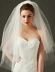 Wedding Veil Two-tier Elbow Veils Cut Edge / Ribbon Edge