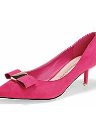 Damen-High Heels-Lässig-Vlies-Stöckelabsatz-Komfort-Schwarz / Braun / Fuchsie