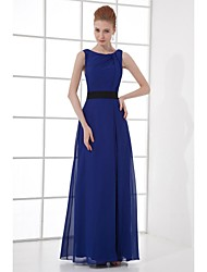 Formal Evening Dress Sheath/Column Scoop Ankle-length Chiffon
