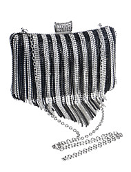 L.west Women Personality Diamonds Tassel Evening Bag