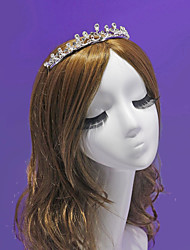 Fancy Flower Girl's Rhinestone / Alloy Headpiece-Wedding / Special Occasion / Outdoor Tiaras