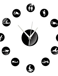 DIY Sexual Position Clock 24Hours Sex Clock Novelty Adult Only Wall Clock Sex Position Clock