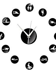 Redonda Moderno/Contemporâneo Relógio de parede,Família Outros 15*15*3 cm (5.91*5.91*1.18 inch)