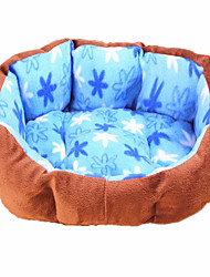 Warm Flower Pattern  Plush Nest for Pet Dogs(Assorted Colour)