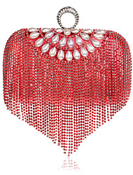 L.west Women Tassel Diamonds Evening Bag