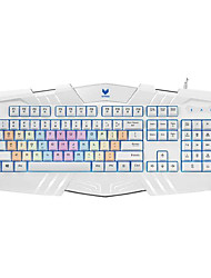 Original Rapoo V51 USB Wired Backlit Luminous Rainbow Keyboard Professional Ergonomic Gaming Keyboards for PC Laptop
