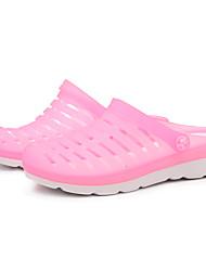 DamenOutddor / Lässig-Silikon-Flacher Absatz-Geschlossene Zehe / Pantoffeln-Blau / Rosa