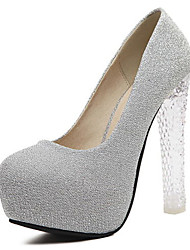 Women's Heels Summer Other Glitter Casual Chunky Heel Sparkling Glitter Pink Gray Other
