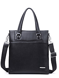 NAWO Men Cowhide Shoulder Bag Black-N154002M