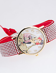 Women's European Style New Fashion Trend Rhinestone Casual Bicycle Girl Bracelet Watch