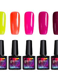 modelones 5pcs beleza unhas gelpolish gel uv 10ml unha polonês brilhando C108 cor verniz ferramenta de manicure