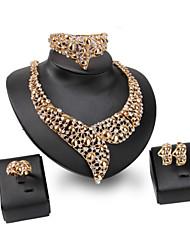 Vintage / Niedlich / Party / Büro / Freizeit-Damen-Halskette / Ohrring / Armband / Ring(Vergoldet / Legierung / Zirkonia / Kunst-Perlen)