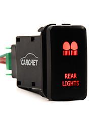 carchet 12v pousser feux arrière à LED interrupteur bleu pour toyota prado 150 landcruiser 200 rav4