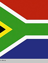South African Flag Republic Of  Africa Rsa Pretoria Cape Town Mandela Rainbow Flag (Without flagpole)