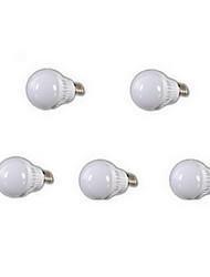 5W E26/E27 LED Kugelbirnen A60(A19) 18 SMD 2835 400-500 lm Kühles Weiß AC 220-240 V 5 Stück