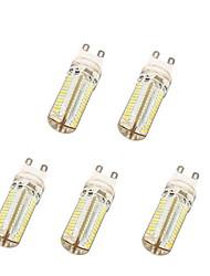 5W G9 LED Mais-Birnen T 104 SMD 3014 600 lm Warmes Weiß / Kühles Weiß AC 220-240 V 5 Stück