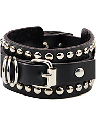 COOL Men's Punk Fashion Bracelet Genuine Leather