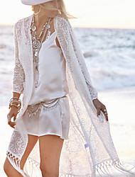 Femme Franges Robes Légères Aux s Franges/Couleur Pleine Sans Armature/Soutien-gorge Sans Rembourrage Licou Polyester