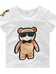 BK  6-12 Y Boys Personalized Print Cotton Cartoon T-shirt Tee Short Sleeve Summer Kids Top