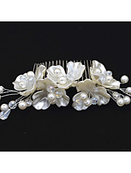 Women's / Flower Girl's Crystal / Imitation Pearl Headpiece-Wedding / Special Occasion Hair Combs 1 Piece