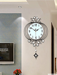 Modern Creative Fashion Metal Pendulum Mute Wall Clock