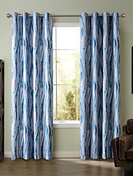 Chadmade SOFITEL Heat Transfer Print  Stripe  Pattern - Oil Paiting Feeling- Blue