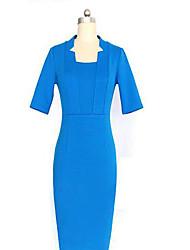 VICONE Women's Solid Color Half Sleeve Bodycon Dress