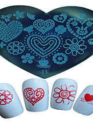 1pcs nail art estampage modèle papillon fleur étoile belle image des outils d'art design d'ongle 11-15 en forme de coeur