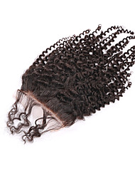 08inch-20inch Natural Black Full Lace / Hand Tied Straight Human Hair Closure Medium Brown Swiss Lace 20g-60g gram Cap Size