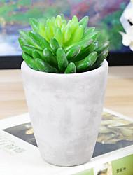 style européen fleur artificielle avec vase miniascape fixé pour fenêtre d'accueil decorartion