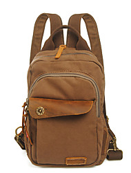 New Fine Girls Boys Canvas Leather Messenger Bag Backpack