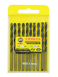 REWIN® TOOL Stainless Steel Cobalt-containing Twist Drill Diameter:4.0mm With 10pcs/box